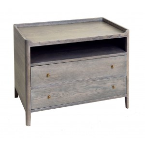 Bedside Cabinet with curved top & upstand