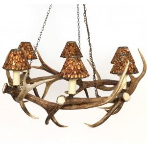 Chandelier - Coronet style - Red Deer