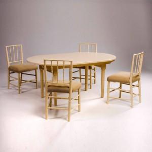 Selkirk Oval Table + Selkirk Side Chairs