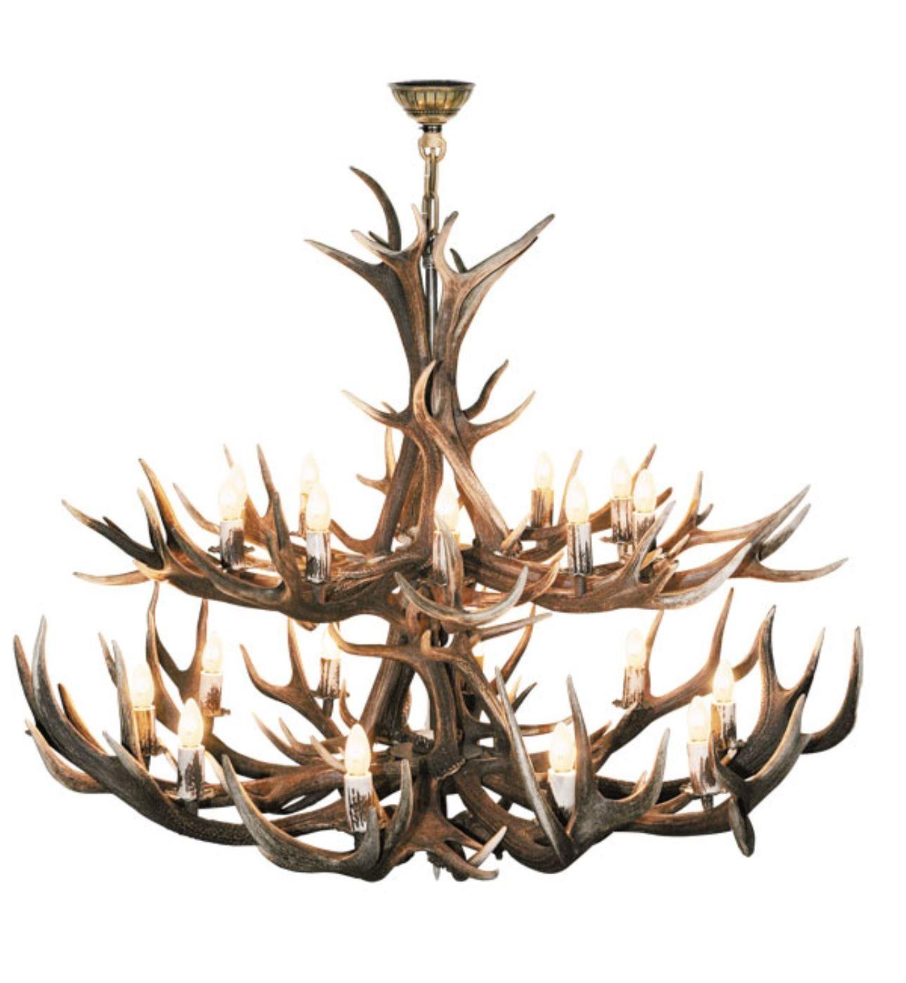 Chandelier- Extra Large 2- Tier Red Deer