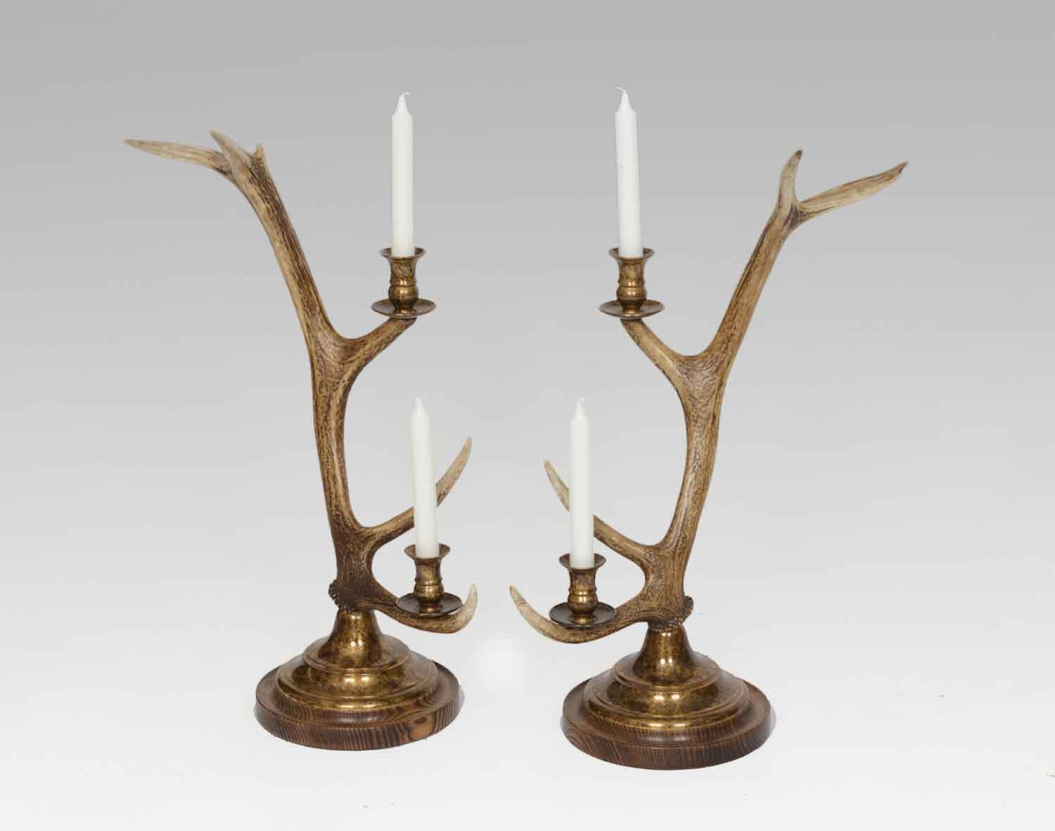 Candlestick, 2-arm Brass