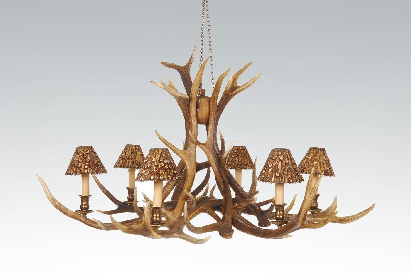 Chandelier - 6 Arm Red Deer