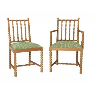 Bobbin Side Chair and Carver