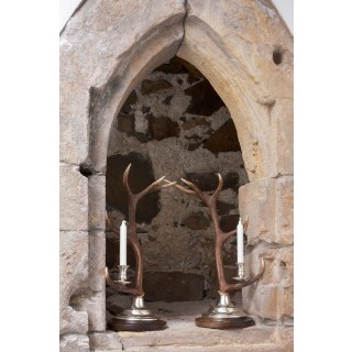 Candlestick -  1-arm silver plated