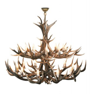 Chandelier- Extra Large 2- Tier Red Deer