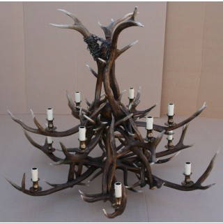 Chandelier - 2-tier Red Deer