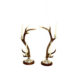 Candlestick - 2-arm Silver plated