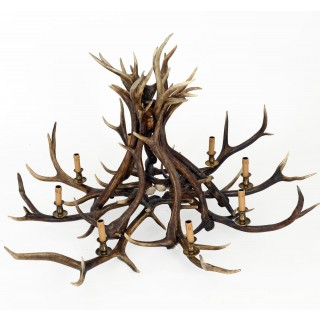 Chandelier - 8 Arm Red Deer