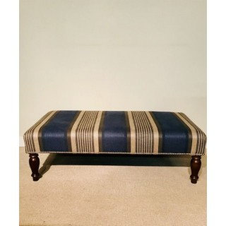 Tyninghame 1 stool with blue stripe