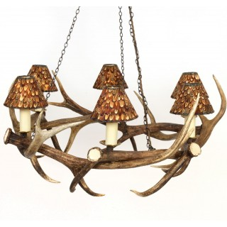 Chandelier - Coronet style - Red Deer