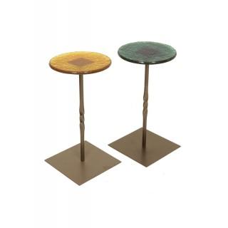 Glass Metal Side Table