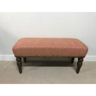 Tyninghame 1 stool with Terracotta stripe -SALE PRICE
