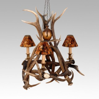 Chandelier - 3 Arm Red Deer
