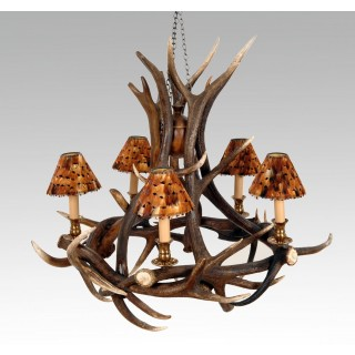 Chandelier - Red Deer 5 Arms