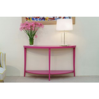 SHOCKING PINK CONSOLE TABLE