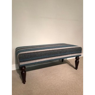 Tyninghame 1 stool with Teal stripe