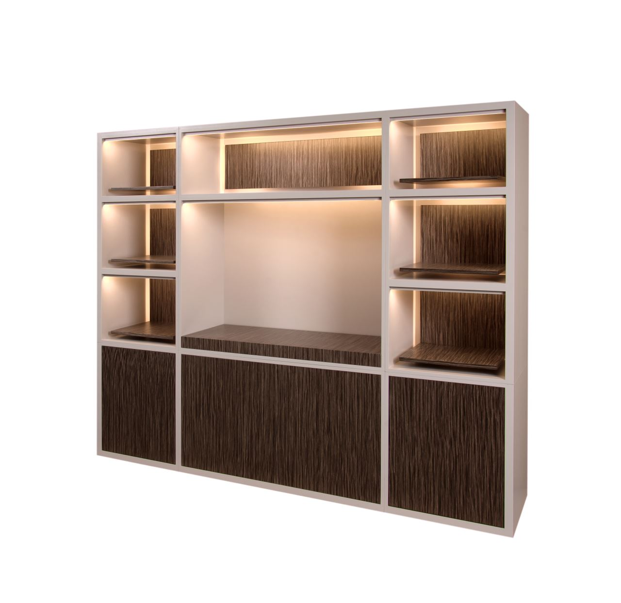 Storage cabinet with leds