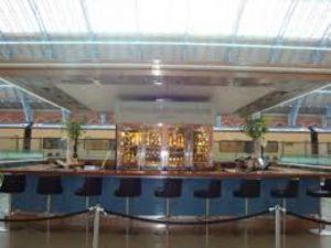 Champagne bar at St Pancreas railway station