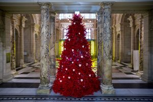The Red Velvet Tree of Love at the V&A Museum