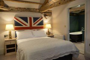 Union Jack headboard, Castle Inn, Spofforth